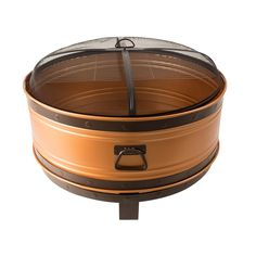 Pleasant Hearth Colossal 36 in. Round Deep Bowl Steel Fire Pit in Copper, Brushed Copper With Bronze Accents Copper Fire Pit, Wood Fire Pit, Steel Fire Pit, Wood Burning Fire Pit, Fire Pit Ring, Fire Pit Bowl, Fire Bowls, Fire Pits For Sale, Outdoor Fire