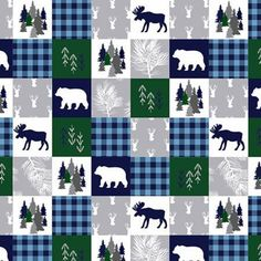 Cabin quilt on minky! #minky #fabric #cabin #moose #thefabricsnob Trend Fabrics, Minky Fabric, Fabulous Fabrics, Cuddling, Moose, Cabin, Quilts, Sewing, Knitting