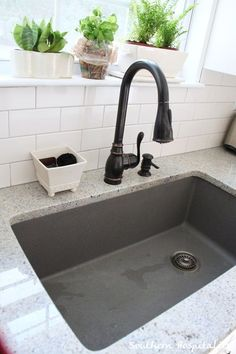Metallic Gray Blanco sink Sink is a Blanco Silgranit Super Single in Metallic Gray. I ordered it from Blanco to Go.