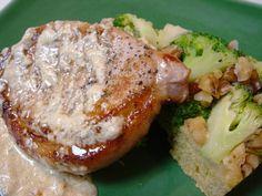 America's Top 20 Pork Chop Recipes - Pork Chops with Blue Cheese Gravy