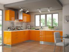 Plata L-shaped Modular Kitchen Post Red Moduler Kitchen, Kitchen Cost, Steel Kitchen Cabinets, Kitchen Prices, Kitchen Cabinet Remodel, Kitchen Cabinet Design, Kitchen Decor, Kitchen Designs, Kitchen Ideas
