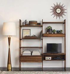 Wood & Brass Starburst Clock | Rejuvenation
