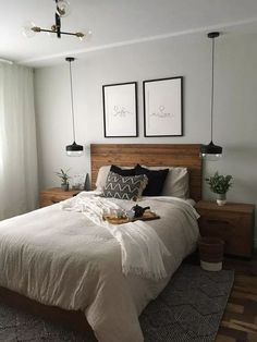 Master bedrooms decor - 63 comfy master bedroom design ideas to copy now 31 – Master bedrooms decor Bedroom Decor Master For Couples, Small Master Bedroom, Master Bedroom Design, Home Decor Bedroom, Bedroom Apartment, Master Bedroom Minimalist, Master Bedrooms, Small Bedroom Ideas For Couples, Bedroom Interior Design