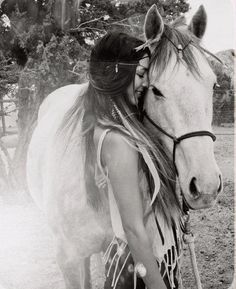 a woman and her horse