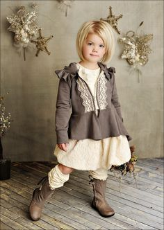 Cute little girl in an adorable outfit!