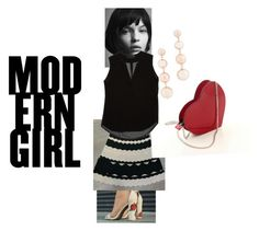 """""""Lolita moderna"""" by zavalle on Polyvore featuring Sandro, Rebecca Minkoff and modern"""