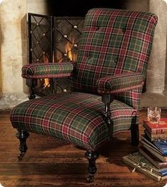 McBain Highland armchair - Yes please, for my imaginary library next to my fantasy fireplace