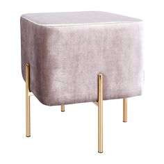 Browse Modern Ottomans Online or Visit Our Showrooms To Get Inspired With The Latest Ottomans From Life Interiors - Chloe Ottoman (Grey Velvet) Grey Ottoman, Ottoman Decor, Modern Ottoman, Fabric Ottoman, Pouf Ottoman, Square Storage Ottoman, Living Room Furniture Online, Floor Pouf, Pink Home Decor