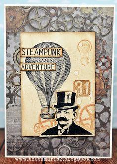 Darkroom Door 'Steampunk' Stamp Set DDRS068. Card created by Teresa Abajo.