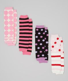Girly girls will love slipping on these darling leg warmers. Cotton and spandex make these outfit additions comfy and soft, perfect for pairing under any ensemble for extra panache and warmth!