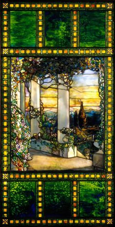 "cgmfindings:  ""Hinds House stained glass Window c. 1900  Tiffany Glass and Decorating Company  """