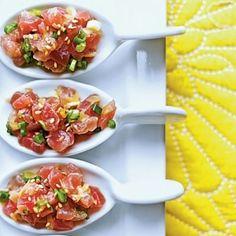 Porciones individuales de tartar de atún