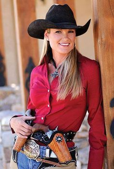 """[sixgun cowgirl] """"The only difference between death and taxes is that death doesn't get worse every time Congress meets."""" Will Rogers Sexy Cowgirl, Cowboy Up, Cowgirl Style, Cowboy Hats, Hot Country Girls, Country Women, Cow Girl, Western Girl, Western Wear"""