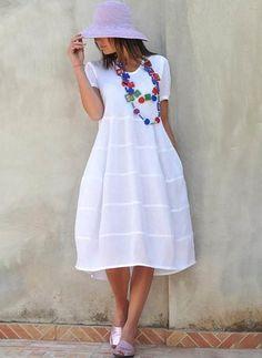Buy Cotton Dresses, Online Shop, Women's Fashion Cotton Dresses for Sale Linen Dresses, Cotton Dresses, Casual Dresses, Summer Dresses, Modest Fashion, Women's Fashion Dresses, Boho Fashion, Woman Outfits, Chic Outfits