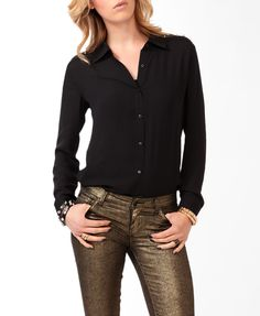 Studded Button Up | FOREVER21 - 2031556746