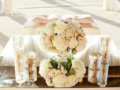 Interesting wedding table decoration