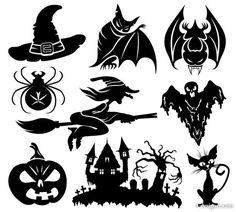 Cheap Wall Stickers, Buy Directly from China Set Halloween Cartoon Character Pattern Wall Sticker Vinyl Art Wall Decal Flying Witch Window Glass Home Decor Halloween Cartoons, Art Halloween, Halloween Icons, Halloween Clipart, Halloween Images, Halloween Themes, Happy Halloween, Halloween Decorations, Whimsical Halloween