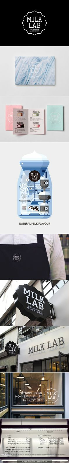 Milk Lab Branding by Studio FNT
