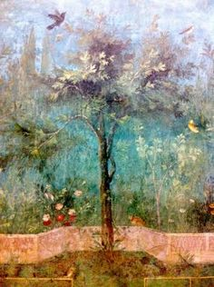Landscape, excavated Roman Frescoes housed at the Palazzo Massimo
