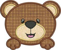 Sale 40 Off Cute Baby Bear Face Applique by embroiderydesignsavi, $1.80