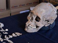 La osamenta de una mujer que vivió hace unos 1,600 años, con el cráneo deformado e incrustaciones de piedras minerales en sus dientes, indicativos de que perteneció a una clase privilegiada, fue descubierta cerca del sitio arqueológico de Teotihuacán, en el centro de México.