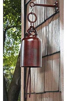 This bell makes a sound that you wouldn't believe. It resonates deep. Made from recycled oxygen tanks or expired or discharged fire extinguishers