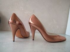 Gorgeous  metalic copper color sexy  high heel by Karolscreations