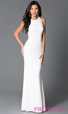 Off+White+Long+Beaded+High+Neck+Open+Back+Prom+Dress+at+PromGirl.com