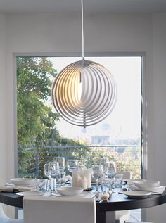 Astounding Dining Room Designing Ideas With Bright Lighting Ideas Overlooking With Charming White Pendant Lamps