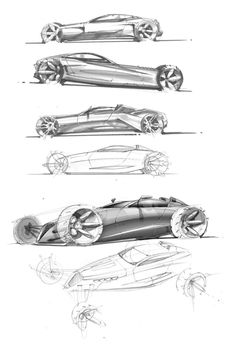 Car Sketches by jake barney, via Behance