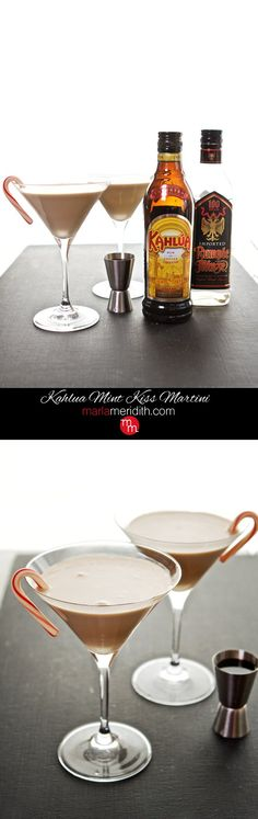 Kahlua Mint Kiss Martini recipe. Kahlua, Rumple Mintze and Cream, your ultimate holiday #cocktail ( @marlameridith ) MarlaMeridith.com