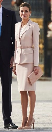 22 Feb 2017 - Queen Letizia attends welcome ceremony for President of Argentina. Click to read more