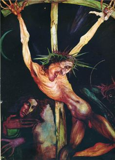 Crucifixion And Self-Portrait With Inge Beside The Cross Ernst Fuchs - Style - Fantastic Realism Vienna School Of Fantastic Realism, Religious Paintings, Religious Images, Religious Art, Art Database, Sacred Art, Sculpture, Art Drawings, Artwork