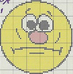 Emoticono Cross Stitch For Kids, Cross Stitch Borders, Cross Stitch Charts, Cross Stitch Designs, Cross Stitching, Cross Stitch Embroidery, Cross Stitch Patterns, Perler Patterns, Loom Patterns