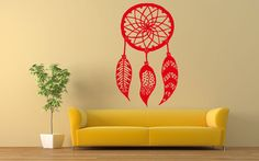 Wall Room Decor Art Vinyl Decal Sticker Mural Dreamcatcher Native Tribal AS366 #3M