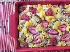 Healthy Baked Peachy French Toast [No Sugar Added]