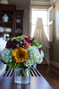 Love the idea of so many different colors in this bouquet!