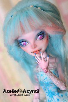 OOAK Custom Monster High Repaint  Shining Star by by Azyntil
