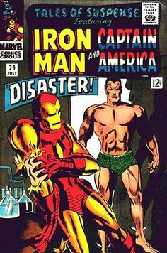 """comicbookcollecting: """" TALES OF SUSPENSE 79 Iron Man and Captain America … Marvel comics … featuring Prince Namor Submariner """" Marvel Comic Books, Comic Book Characters, Marvel Dc Comics, Comic Books Art, Book Art, Comic Art, Marvel Heroes, Marvel Avengers, Lego Marvel"""