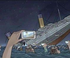 titanic selfies