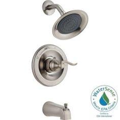 Delta Brushed Nickel Shower Faucet