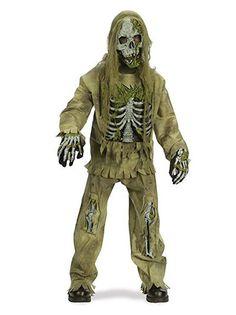 Kids Boys Scary Horror Zombie Fancy Dress Halloween Costume Outfit New