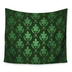 East Urban Home Emerald Damask Wall Tapestry Size: