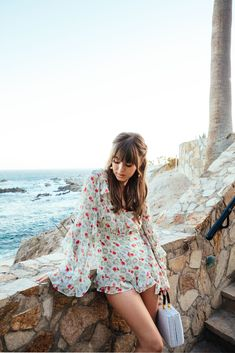 Floral Romper Mexican Vacation | Jenny Cipoletti of Margo & Me