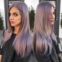 Metallic purple hair...