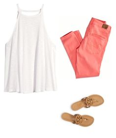 """Untitled #5"" by kimberlysmith1129 ❤ liked on Polyvore featuring American Eagle Outfitters, H&M and Tory Burch"
