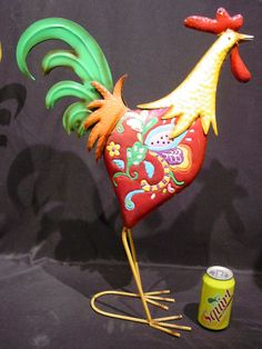 Tall Garden Art Metal Rooster Available on Ebay