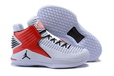 32c0e7177363 Advanced Design Nike Air Jordan 32 XXXII White Black Blood Red Mens  Basketball Shoes Buy Jordans
