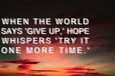 listen when hope whispers