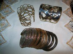 vintage bracelets, stacking bracelets, fashion bracelets, destash bracelets by vintagebyrudi on Etsy